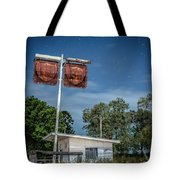 Old Rustic Fuel Station Sign In The Countryside Tote Bag