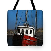 Old Rustic Red Fishing Boat Tote Bag