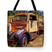 Old Rusting Flatbed Truck Tote Bag