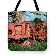 Old Rusty Tractors Tote Bag