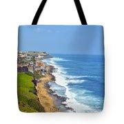 Old San Juan Coastline 3 Tote Bag