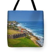 Old San Juan Coastline Tote Bag
