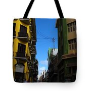 Old San Juan Puerto Rico Downtown On The Corner Tote Bag