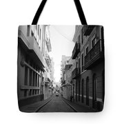 Old San Juan Puerto Rico Downtown On The Street Tote Bag