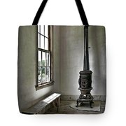 Old School House Stove Tote Bag
