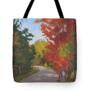 Old Scoolhouse Road Fall - Art By Bill Tomsa Tote Bag