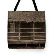 Old Shack In Sepia Tote Bag