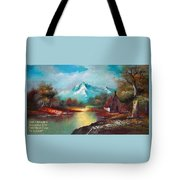 Old Shed Close To A River H A Tote Bag