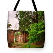 Old Sheldon Church Ruins 3 Tote Bag