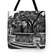 Old Sheldon Church Ruins Beaufort Sc Black And White Tote Bag