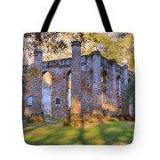 Old Sheldon Church Ruins Tote Bag