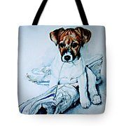 Old Shoe Pup Tote Bag