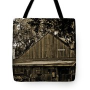 Old Spanish Sugar Mill Sepia Tote Bag