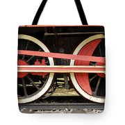 Old Steam Locomotive Iron Rusty Wheels Tote Bag
