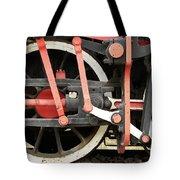 Old Steam Locomotive Wheels Tote Bag