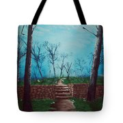Old Steps To The Horizon Tote Bag