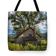 Old Stone Ranch Structure Tote Bag