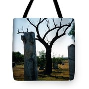 Old Stones In Old Cementery Tote Bag