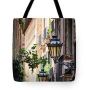 Old Street Light In Barcelona, Spain Tote Bag