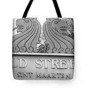 Old Street Sint Maarten In Sepia Tote Bag