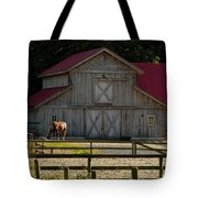 Old-style Horse Barn Tote Bag