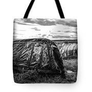 Old Tarred Boat On Holy Island 2 Tote Bag