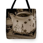 Old Tea Kettle In A Miner's Cabin Tote Bag