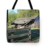 Old Tilted Barn Indiana Tote Bag
