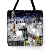 Old Time Winter Tote Bag