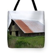 Old Tin Roof Barn Washington State Tote Bag