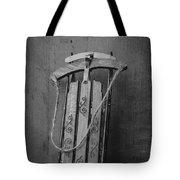 Old Toboggan Sled Tote Bag