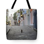 Old Town Alley Cat Tote Bag