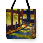 Old Town At Night Tote Bag