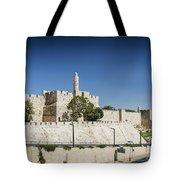 Old Town Citadel Walls Of Jerusalem Israel Tote Bag