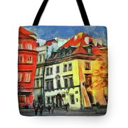 Old Town In Warsaw # 27 Tote Bag