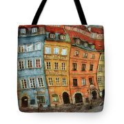 Old Town In Warsaw # 32 Tote Bag