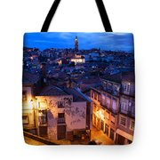 Old Town Of Porto In Portugal At Dusk Tote Bag