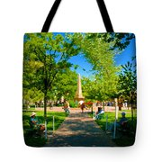 Old Town Square Santa Fe Tote Bag
