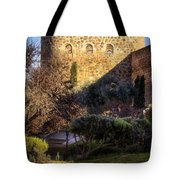 Old Town Walls Toledo Spain Tote Bag by Joan Carroll