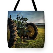 Old Tractor In The Field Outside Of Keene Nh Tote Bag by Edward Fielding
