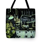 Old Tractor Weed Engine In Blue Tote Bag