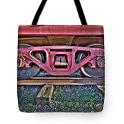 Old Train Wheels Tote Bag