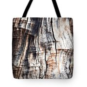 Old Tree Stump Tree Without Bark Tote Bag