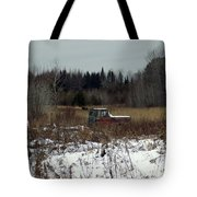 Old Truck And A Moose Tote Bag