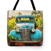 Old Truck At The Winery Tote Bag