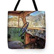 Old Truck Interior Nevada Desert Tote Bag by Edward Fielding