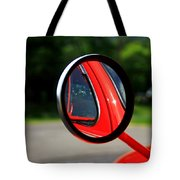 Old Truck Mirror Reflection Tote Bag