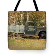 Old Truck With Potato Barrels Tote Bag