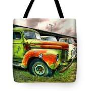 Old Trucks In A Row Tote Bag