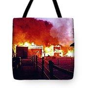 Old Tucson Arizona In Flames 1995  Tote Bag